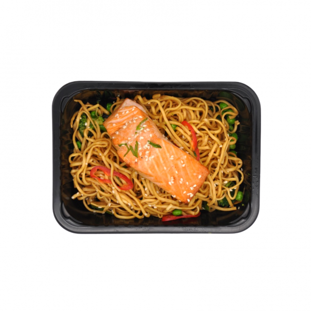 Salmon with Ginger & Soy Noodles